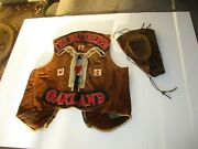 Cool Motorcycle Club Colors The Bretheren Oakland Biker Vest Jacket Patches Hat