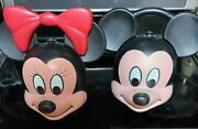 Retro Mickey And Minnie Heads Aladdin Lunchbox/thermos Rare Disney Lunchboxes.