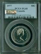 1977 Canada 50 Cents Pcgs Mac Pl-68 Pq 2nd Finest Graded Pop-2 Spotless