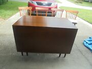 Antique Willett Solid Cherry Drop Leaf Table And 4 Chairs