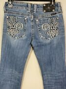 Miss Me Women's Boot Cut Low-rise Distressed Jeans Size 30