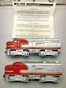K-line Noand039s.2126 And 2128 Twin A Alco Units/no.2127 B Dummy Unit And 5 Pass Cars