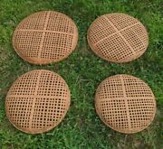 Woven Round Rattan Wicker Wall Baskets Round Tray Wall Decor Hanging Basket 4