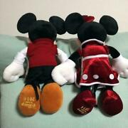 Disney Store Official Mickey Minnie Mouse Plush Doll 2 Set Christmas 2014 Gin23