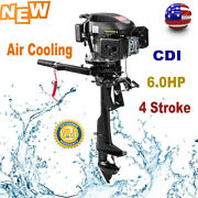 Hangkai 6hp 4 Stroke Outboard Motor Boat Engine Air Cooled Electronic Ignition