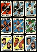Topps Game 1971 Topps Football Game Almost Complete Set 6 - Ex/mt