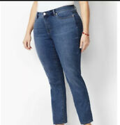 Womens 22wp Talbots Girlfriend Flawless Ankle Jeans Mid Rise Relaxed Nwt 99