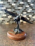 Arthur Norby Wheeling In Bronze Sculpture Limited 3 Of 75 Bird Flying Read