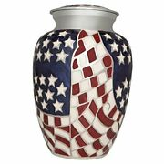 Flag Funeral Urn By - Cremation Urn For Human Ashes -hand Made In Brass
