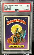 Psa 9 - 1985 Gpk Garbage Pail Kids Os1 Series 1 Stickers - Dead Ted 5a Cl Back