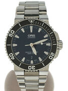Oris Aquis Date Automatic Watch Analog Stainless Steel Blk Slv 2021 05 Woh