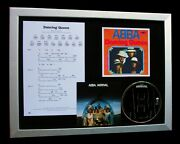 Abba Dancing Queen Ltd Gallery Quality Framed Music Cd Display+fast Global Ship