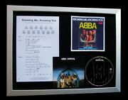 Abba Knowing Me, Knowing You Ltd Framed Quality Music Cd Display+fast World Ship