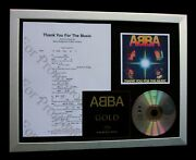 Abba Thank You For Music Ltd Framed Quality Music Cd Display+express Global Ship