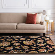 Damask Area Rugs 100 Wool Hand Tufted Soft To Touch For Home Decor