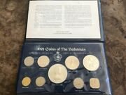 1971 Coins Of The Bahamas Uncirculated 9-coin Set Franklin Mint 4 Silver Coins