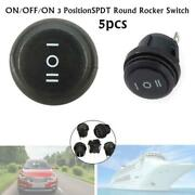 5xcar Boat 3 Position 3 Pin On Of On Round Rocker Switch Spdt System Waterproof