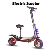 Electric Scooter 80km/h High Speed 60v 5600w Adult Big Wheel 11andrdquo Off Road Seat
