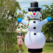 Christmas Inflatable Snowman 13ft Tall Ozis With Led Lights Blow Up Decorations