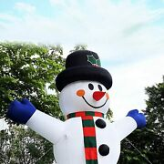 Inflatable Snowman Christmas 13ft Tall Ozis With Led Lights Blow Up Decorations