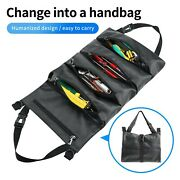 A Tool Roll Up Bag Waxed Canvas Pouch Tools Tote Carrier Holder Sling Organizer