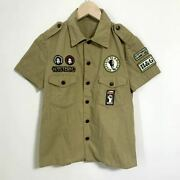 Hysteric Glamour Boy Scout Shirts Made In Japan Military Shirt I6375