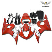 Motocycle Injection Glossy Red White Fairing Fit For Yamaha 2003-05 Yzf R6 B054