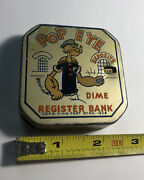 """Rare Colorful 1929 Popeye Dime Register Bank, King Feature Syndicates Usa 2.5"""""""