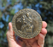 Sr, France, Medal With Medieval Seal Of Montpellier, Our Lady