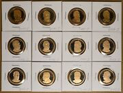 2011 2012 And 2013 Proof Presidential Dollars - 12 Coins