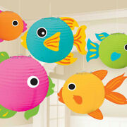 5 X Hanging Fish Lanterns Under The Sea Theme Party Decorations