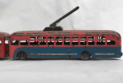 Soviet Collectible Toy Tin Cars Bus And Trolleybus Ussr