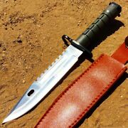 12.75 Defender Xtreme Stainless Steel M9 Bayonet Knife With Sheath