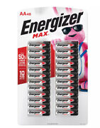 Energizer Max Aa Batteries 48 Pack Double A Alkaline Batteries Free Shipping