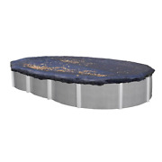 Swimline 15x30 Ft. Heavy Duty Oval Above Ground Winter Swimming Pool Cover, Blue
