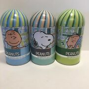 🥜 3 Lot Peanuts 100 Pc Jigsaw Puzzle Tins Charlie Brown Snoopy Linus Brand New
