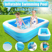 Inflatable Swimming Pool 2/3 Layers Children Bathing Tub Kids Above-ground Pools