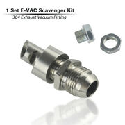 Stainless Steel E-vac Scavenger Kit 304 Exhaust Vacuum Fitting Car Vent Silver