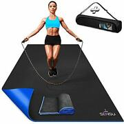 Sensu Large Exercise Mat – 6' X 4' X 8.5mm Extra Thick Workout Mats For Home