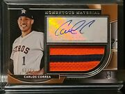 2021 Museum Collection Carlos Correa Rc Jumbo Patch Auto 1/15 Jersey Number