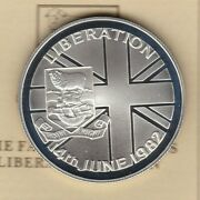 Boxed 1982 Falklands Liberation Silver Proof 50 Pence Crown With Certificate.