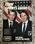 Vintage Espn Sports Guide July 1984 John Mcenroe And Jimmy Connors Tennis Cover