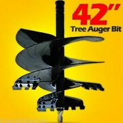 42 X 4' Skid Steer Tree Auger Bit,uses 2 Hex Drive,fits All Brands, Made Usa