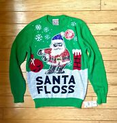 Andldquosanta Flossandrdquo Ugly Christmas Sweater W/ Sequins By Well Worn Holiday Sweaters