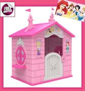 Princess Cottage Playhouse Castle Patio Activity Play House Kids Girl Pink New