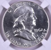 1962 Franklin Half Dollar Ngc Ms64 Fbl Ultra Flashy Pl And Pq Strong Bell Lines