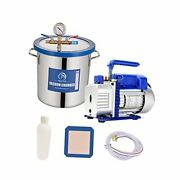 Tempered Glass Lid Vacuum Chamber With Pump, Degassing Chamber Kit 5 Gallon