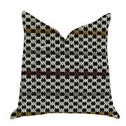 Plutus Poppy Chic Woven Luxury Decorative Throw Pillow In Black Red Green Doub