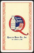 Vintage Playing Card Quality Dairy Co Baby And Bottle Pictured St Louis Missouri