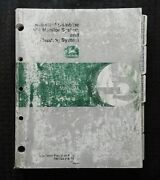 John Deere 9400 9500 9600 9410 9510 9610 Combine Yield Monitor And Mapping Manual